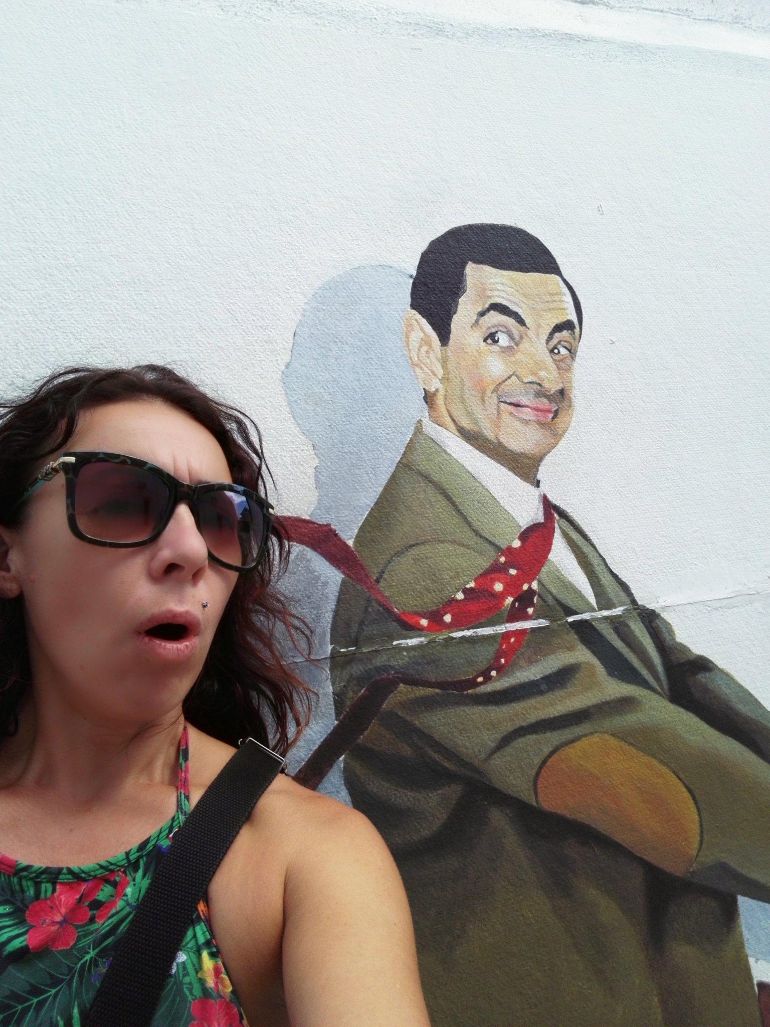 Mr Bean  themed mural