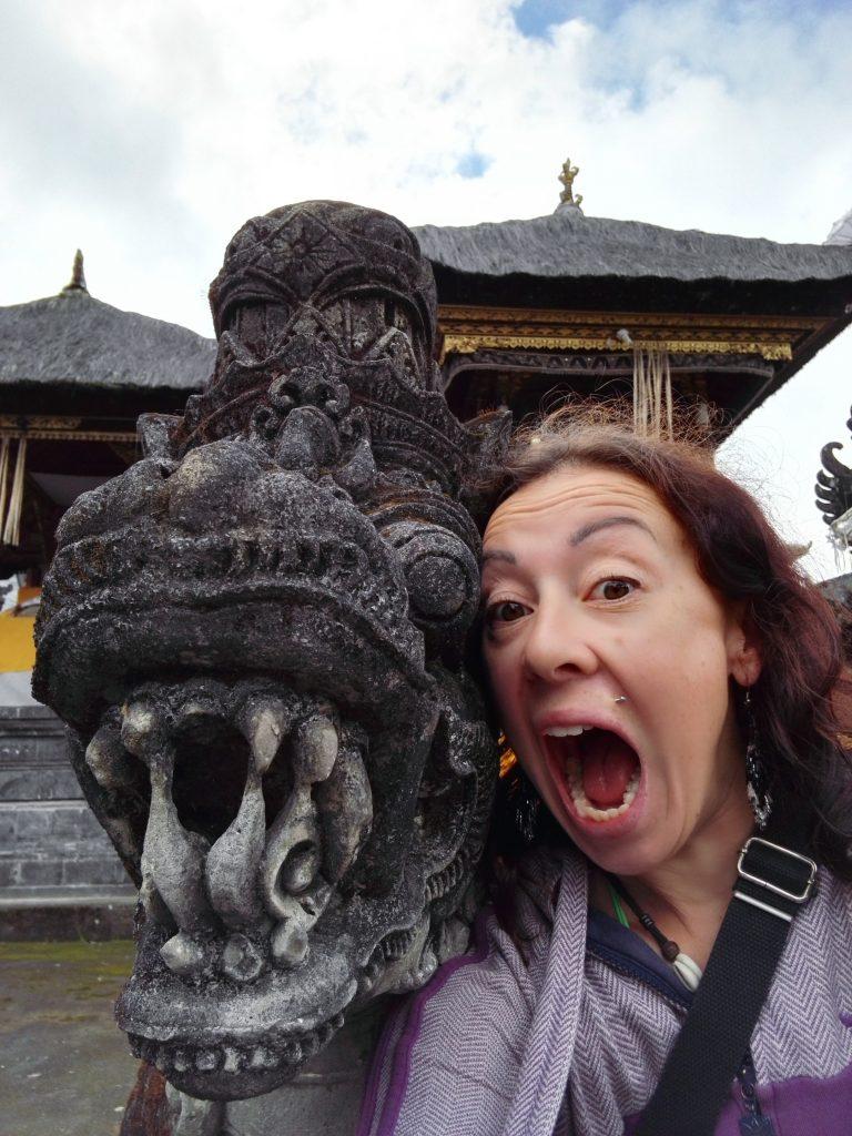At Pura Besakih Temple in Bali