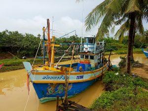 A fishing boat at the market