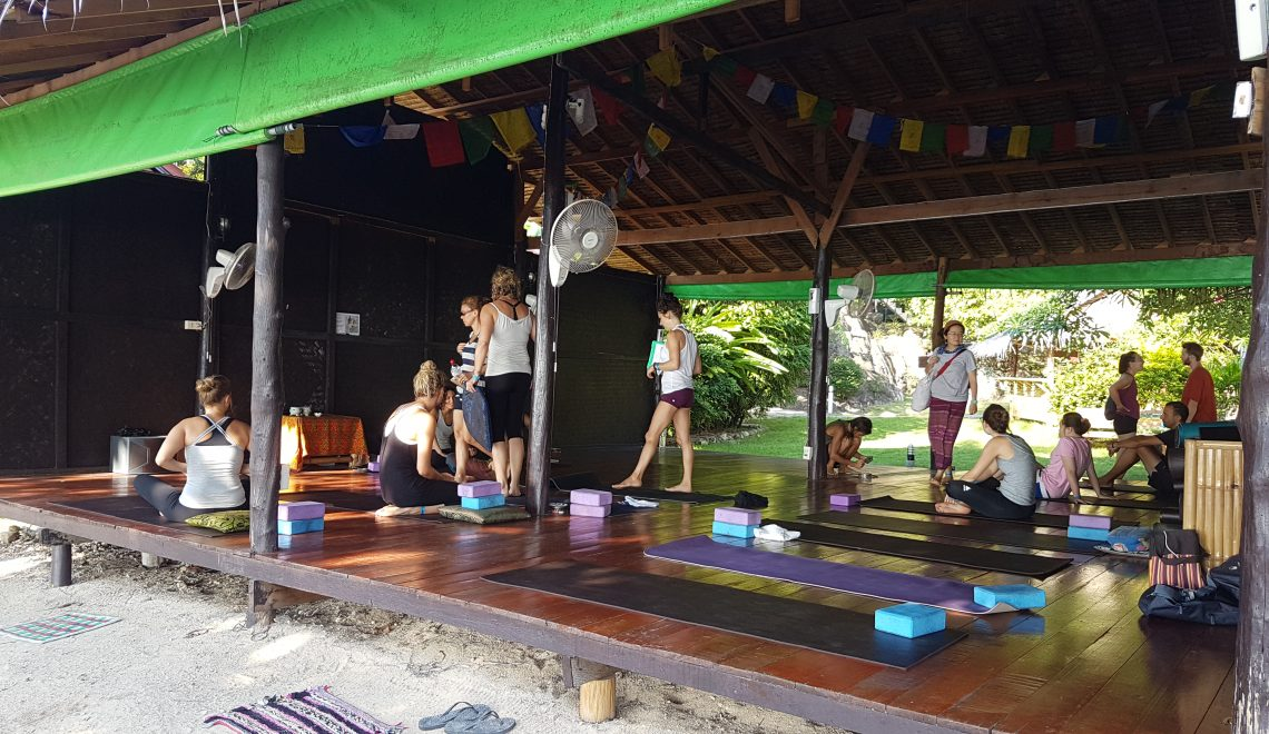 Yoga shala by the beach
