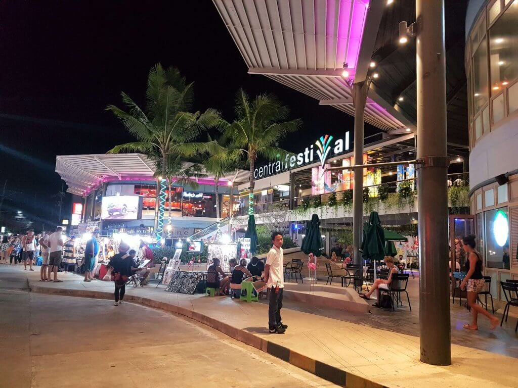 Shopping centre by night