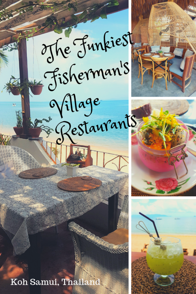 a pic collage of Koh Samui restaurants
