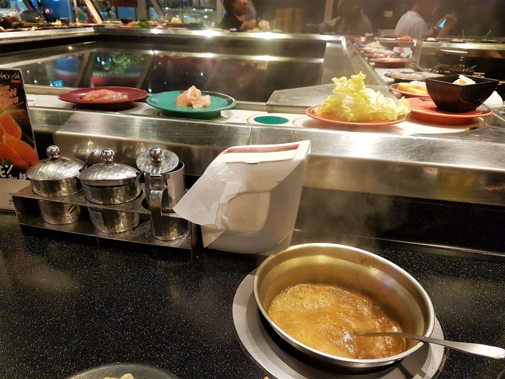 soup bowl and the sushi belt