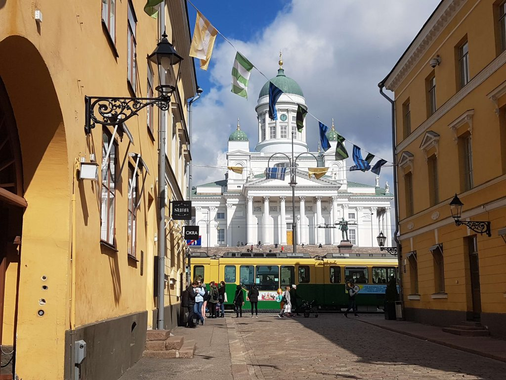 The Helsinki Cathedral, a white grandiose church