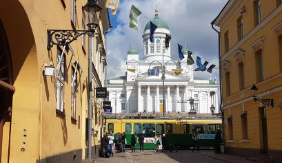 The Helsinki Cathedral, a white grandiose church
