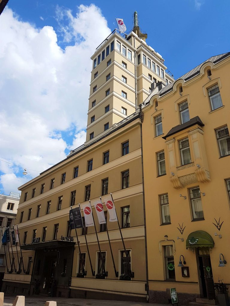 Hotel Torni is situated in this old building