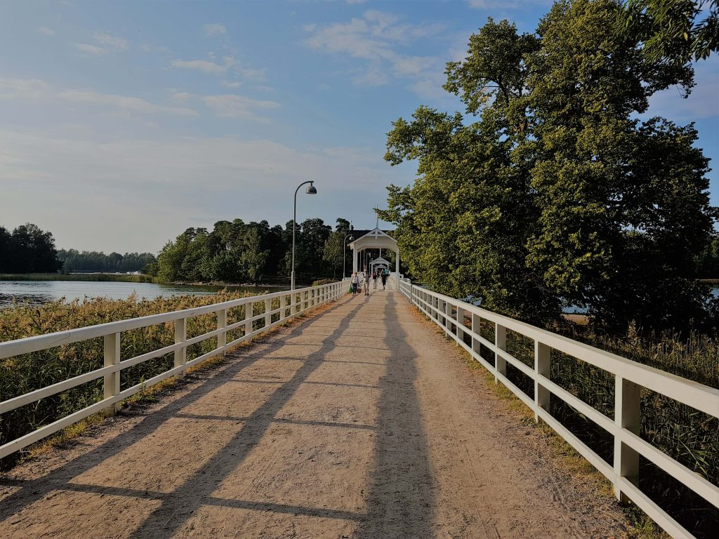 The beautiful bridge leading to Seurasaari