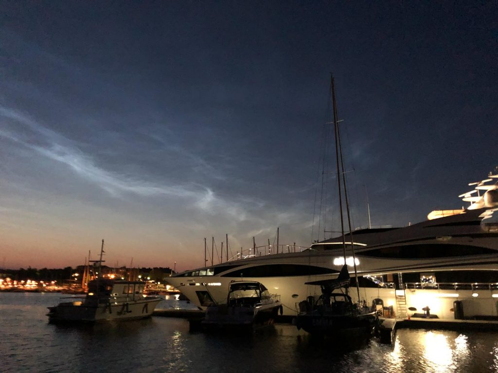 Hanko marina by night
