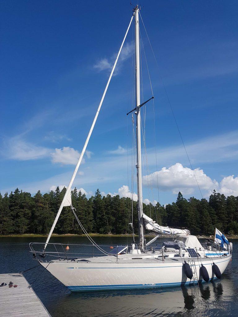 Celeste sailing boat