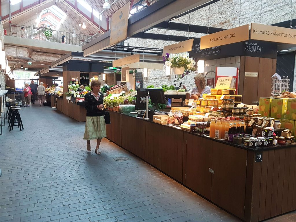 The market is modern and airy