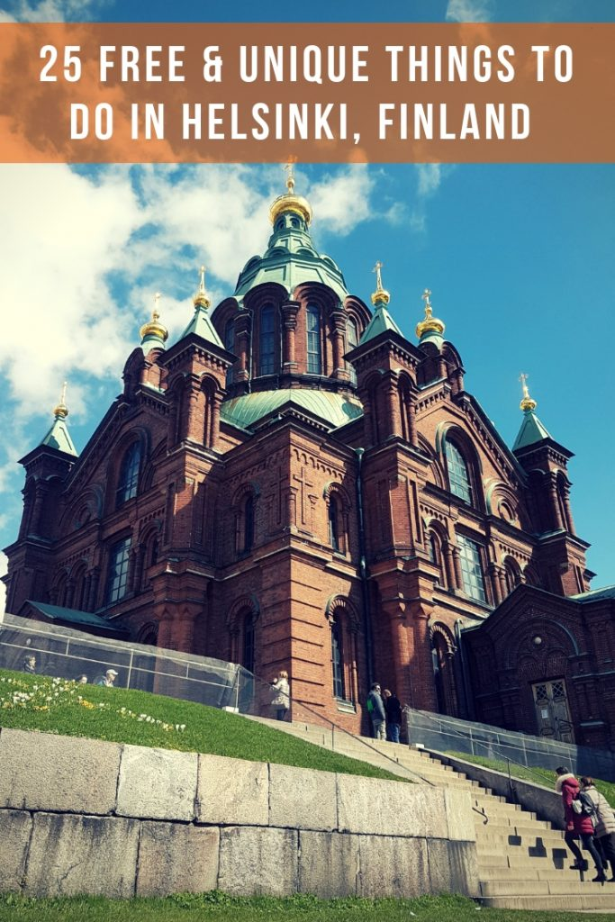 A red bricked Orthodox church in Helsinki