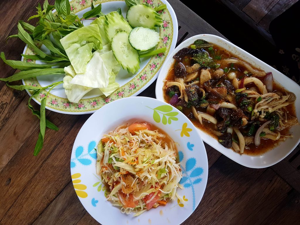 3 Thai food dishes