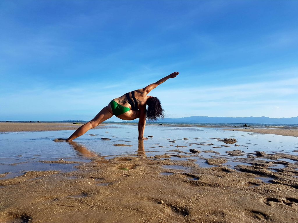 The small island of Koh Phangan in Thailand is also a yoga mecca and you will meet many yogis at beach