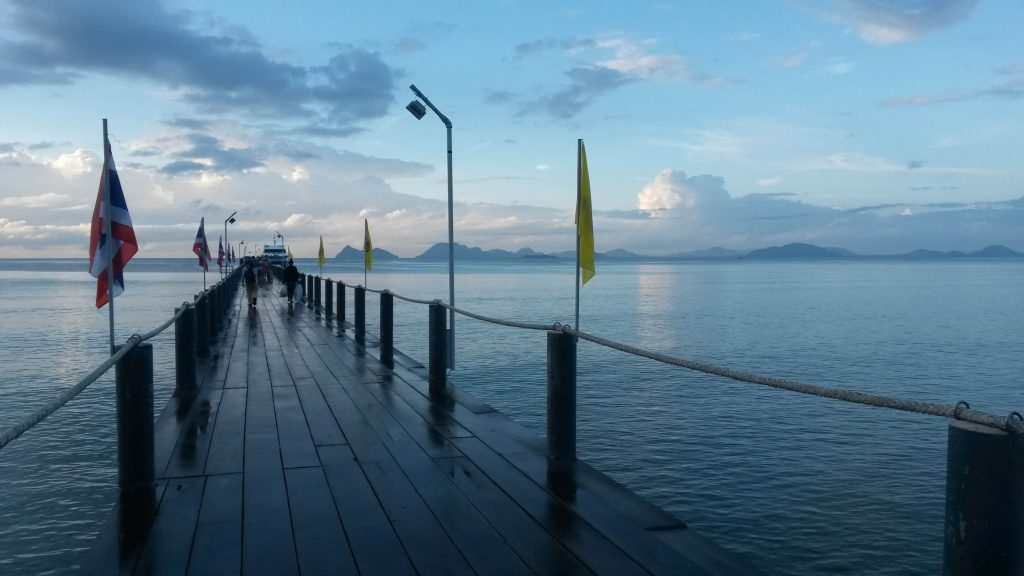 Those magical moments when you are at the pier, waiting for the boat to take you back home to Ko Phangan