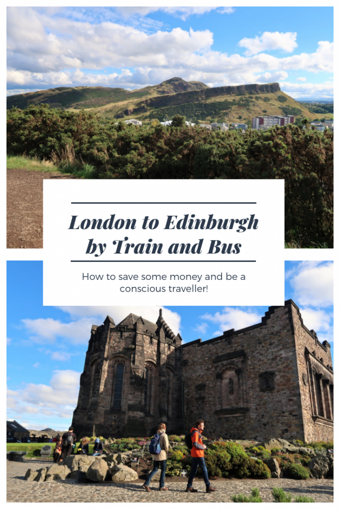 If you travel from London to Edinburgh whether it be by bus, train or by air you will experience the beautiful castle and Arthur's Seat mountain
