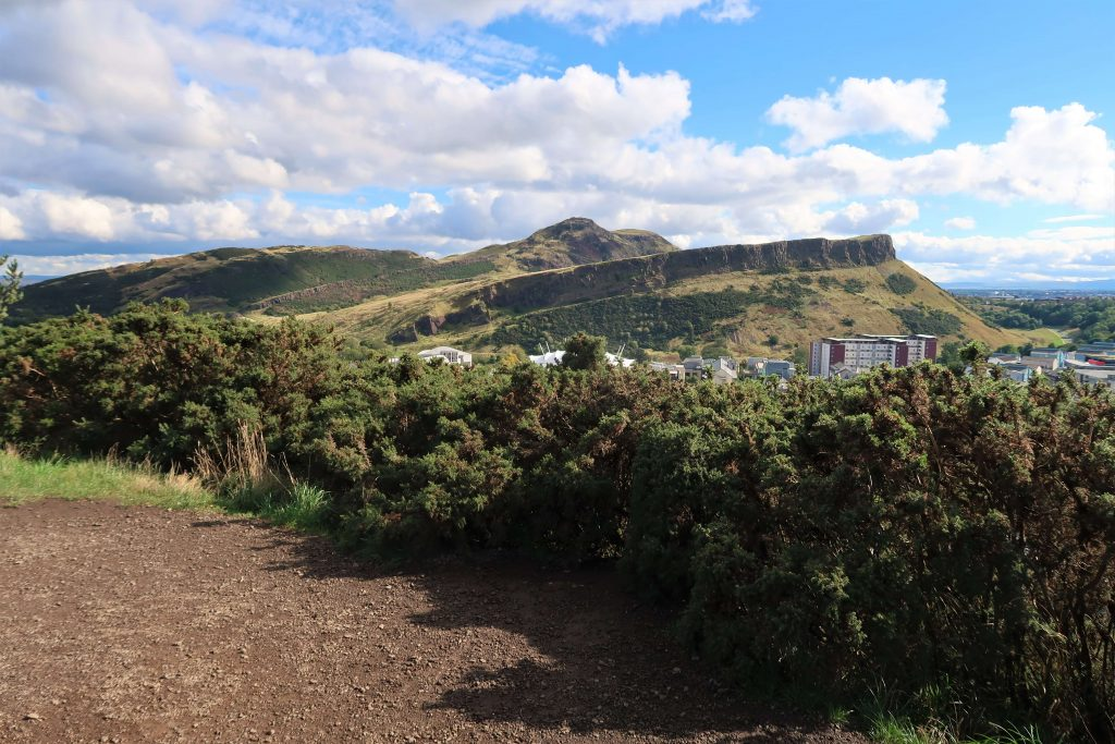 Arthur's seat mountain from afar