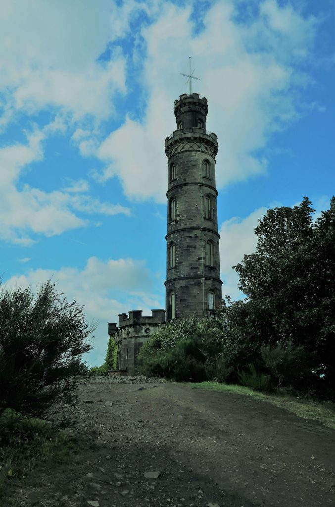 The Nelson Monument on top of Calton Hill