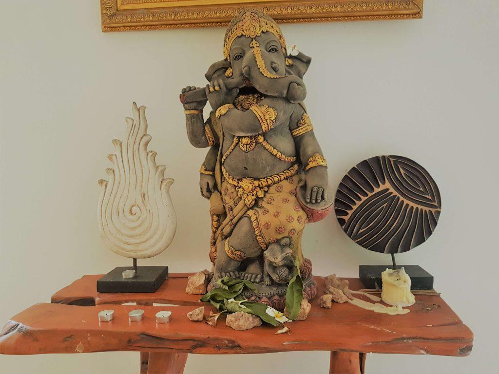 Ganesha at the yoga shala altar