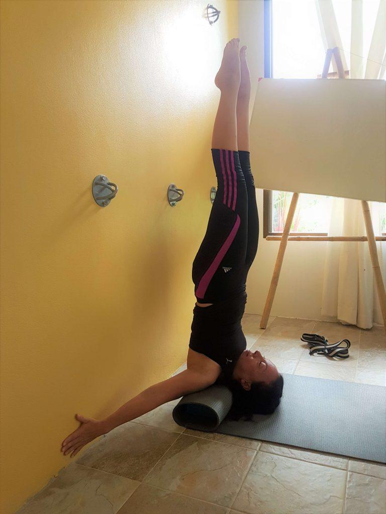 Me doing a shoulder stand variation