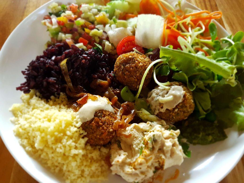 Healthy vegan lunch