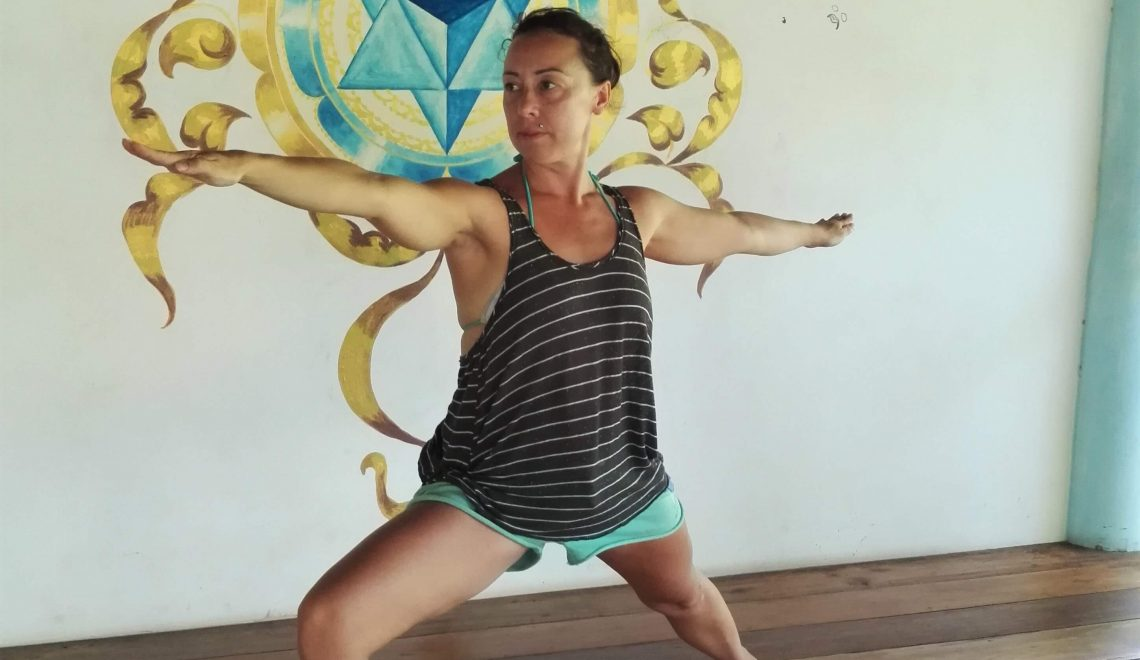 Virabhadrasana B, the warrior pose