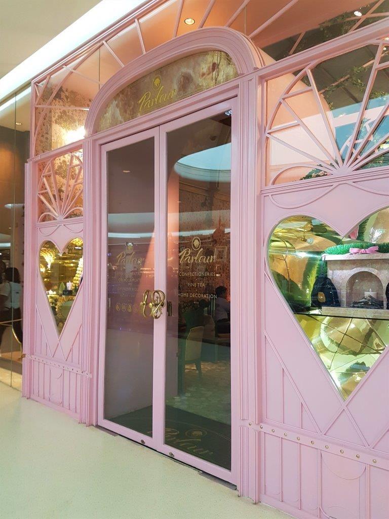 A pink golden grand entrance