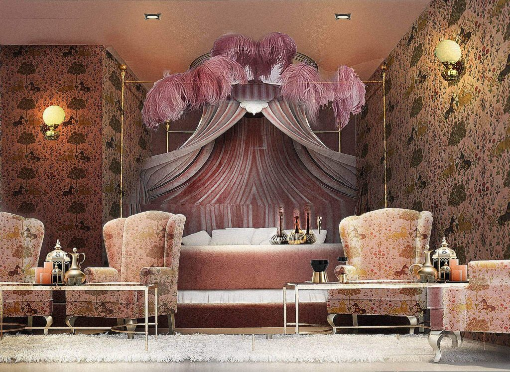 Exquisite and pink Stretsis Parlour private function room